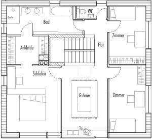 Das Obergeschoss - 1st floor